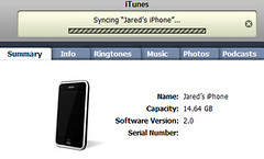 iTunes Syncing iPhone