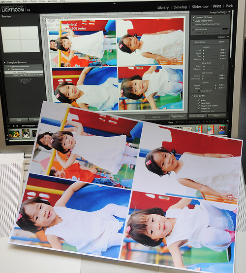 Bright faces in iP4500 prints