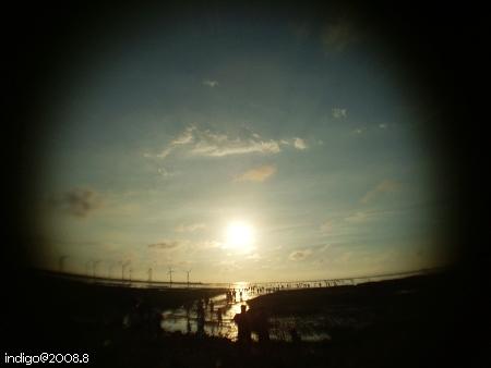 太陽開始變成蛋黃了 (by indigo@Taiwan)