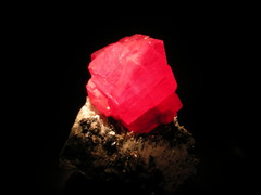 Rhodochrosite (capella_7009) Tags: red beautiful mineral glowing houstonmuseumofnaturalscience hmns rhodochrosite