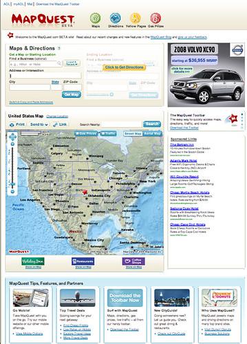 New MapQuest beta