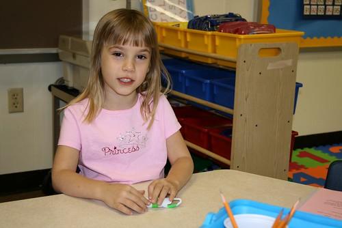 Cassie at her desk