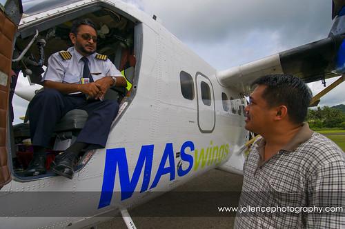 John and Flight Captain in Kudat