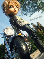 Anderson_Taeyang Custom (Nerea_Mei4life) Tags: sunset sexy beach bike doll surf harley anderson planning surfboard blonde custom jun capoeria taeyang