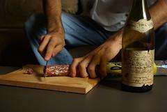 cut me !! (yeuxrouge) Tags: justin de hand knife eat baton saucisson bras berger charcuterie bonappetit couteau alcools virela virela2 virela3 virela4 virela5 virela6 virela7 virela8 virela9 virela10