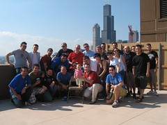 Group Shot on Terrace (Rick Casey) Tags: leader tied chicagoland30