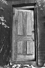 a6772_2_3_1: The Old Door Ajar (tengtan (away awhile)) Tags: door old bw black closeup wooden country wideangle charming quaint castlemaine storehouse ajar platinumphoto anawesomeshot infinestyle amazingamateur auselite tengtan