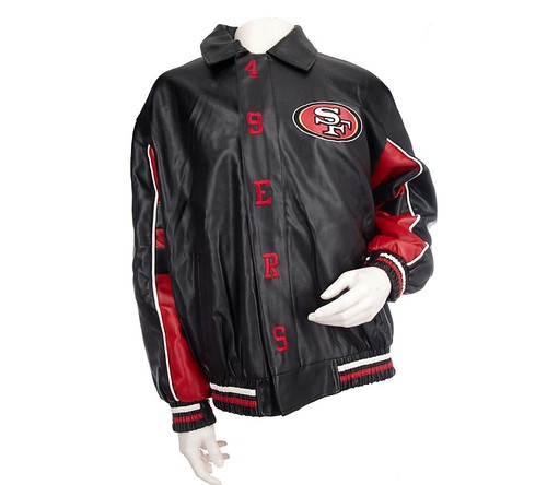 NFL faux leather jacket.