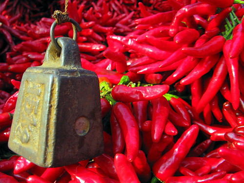 Hot stuff! (Peppers for sale in Luoshan, Henan Province, China
