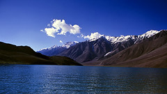 Chandertal Lake, Spiti (sapru) Tags: blue sky mountain lake trek landscape still cool fantastic quiet peace horizon lakes relaxing restful calming surreal floating peaceful tranquility calm silence harmony serenity serene dreamlike hush stillness tranquil himachal himalayas balanced poised spiti gentle soothing calmness treks quietness comforting himachalpradesh composed otherworldly illusory unruffled topshots chandertal untroubled unperturbed lahaul chandrataal lahual unworried trancelike worldwidelandscapes natureselegantshots panoramafotogrfico lahaulandspiti chandertallake lakesinlahaulandspiti treksinhimachal