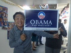 Honolulu day 7 - Me at the Hawaii Obama HQ