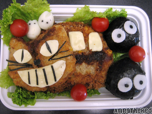 Bento of Nekobus from Totoro! by kickintheheadcomic.