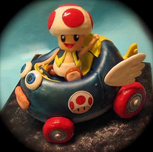 Toad/ Mario Kart cake