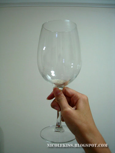 crystal soil in wine glass