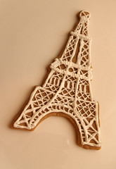 Eiffel Tower Cookie (nikkicookiebaker) Tags:
