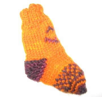 wee pumpkin sock side