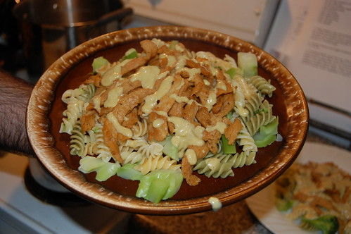 Cheezy Soy Curls and Broccoli Pasta