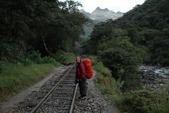 Sur la route du chemin de fer pour Agua Caliente