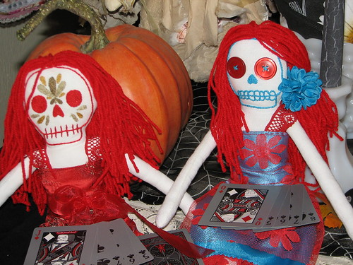 Little dead skelly dolls by Amanda Button