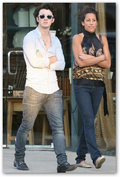 Danielle Deleasa Walks with Kevin Jonas