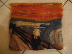 The Scream  wet & needle felted (I'll save you a seat...) Tags: wet felting needle scream edvard munch