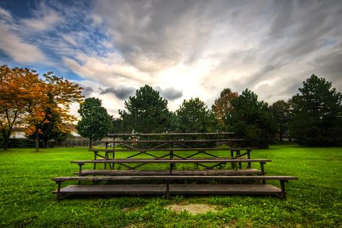 empty park seats