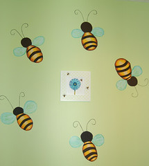 Baby's Room Bug's Mural (Bi0star) Tags: leaves wall butterfly painting vines mural snail bugs bee ladybug acrylics catapillar babysroom
