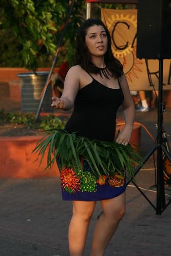 Islander dancing