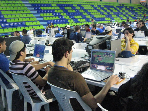 gammers en la Campus Party