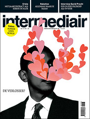 coverdesign Intermediair magazine (jaap!) Tags: blue red usa white saint illustration magazine out photography design heart graphic hart elections obama jaap lay biemans barrack coverdesign nicecover
