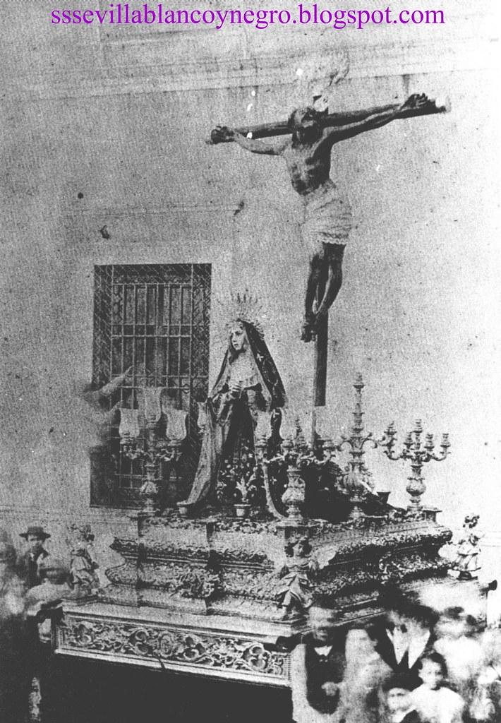 Santísimo Cristo de la Expiración y Ntra. Sra. de las Aguas hacia 1883