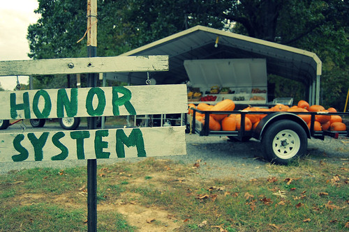 Honor System Veggie Stand