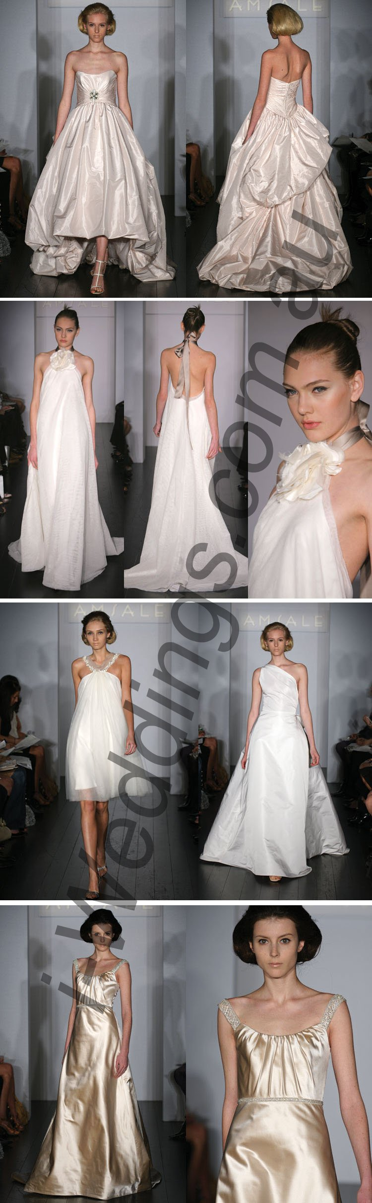 iLoveThese beautifully different Amsale gowns