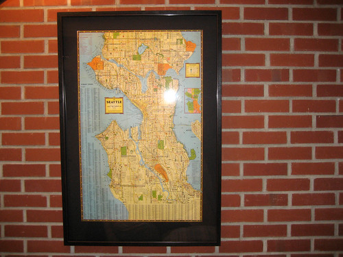 framed seattle kroll map