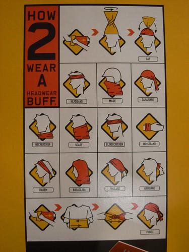 你拍攝的 多功能頭巾用法。