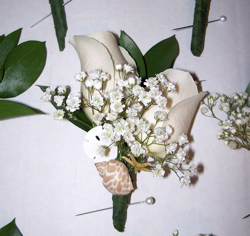 Beach Themed Groom Boutonnieres
