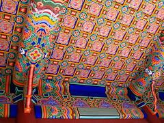 Saturation (Sanctu) Tags: roof colour palace korea ceiling cover seoul ornate shelter southkorea royalpalace gyeongbokgung gyeongbok palacegrounds joseondynasty jongnogu