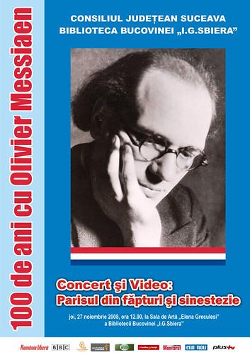 27 Noiembrie 2008 » 100 de ani cu Olivier MESSIAEN