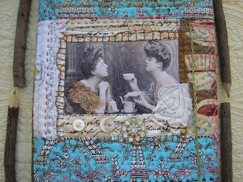 quilted book cover