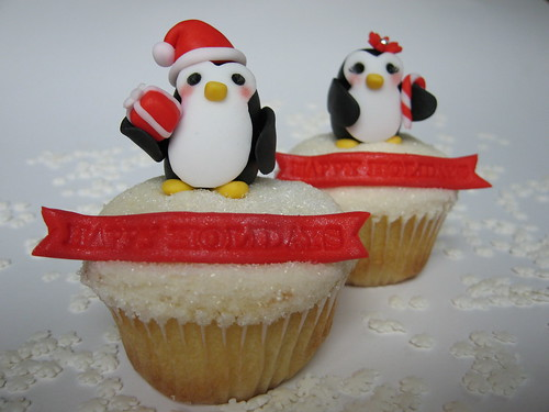 Holiday Penguin Cupcakes