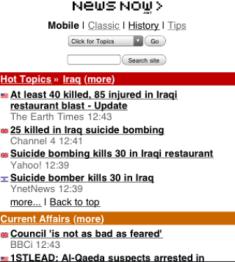 Newsnow mobile