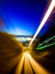 swooooosh (frischmilch) Tags: longexposure norway night lights moving bergen moutain incline floyen moutainrailway