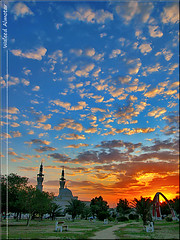 Amazing Morning (Waleed Almotar) Tags: leica morning blue sunset red orange sunrise olympus kuwait e3 waleed q8 1450 mosq f2835 1450mm almotar adailya