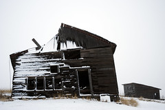 Collapsed Shed in Winter 2