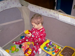 MIKE PLAYING WITH XMAS TOYS (chaz71) Tags: christmas xmas baby mike joe presents chuck