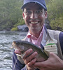 Allan with a dry fly October Caddis 'bow