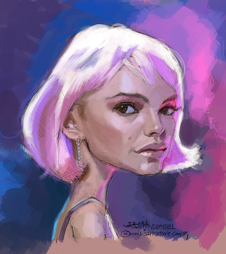 Natalie Portman caricature sketch study - 1