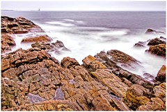 Waves of time (wildshutterbug) Tags: ocean light beach rock portland nikon long exposure waves head maine density neutral d60 nd10