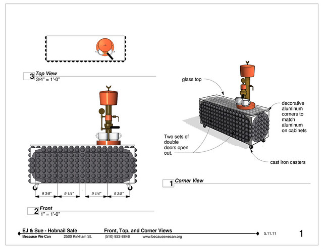 L:\BWC Bucket\projects\Eric&Sue_Johnston\Revit\Shops\Hobnail_Safe_V2_Shops - Sheet - 1 - Front, Top, and Corner Views.pdf
