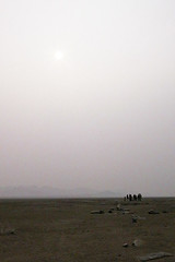 The sun over the Mongolian plains